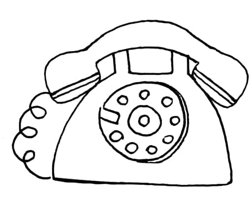 Drawing of a telephone.