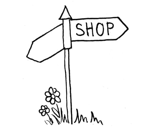 Drawing of signpost.